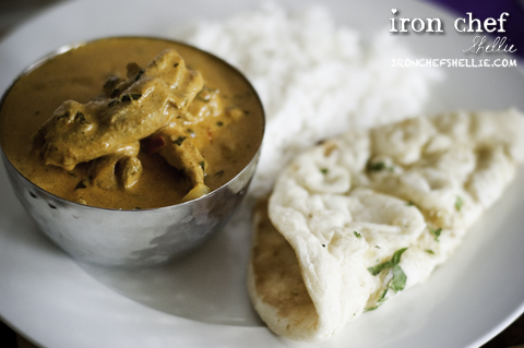 Curry Rice and Naan