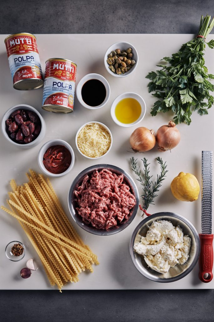 Ingredients for Deconstructed Lasagne