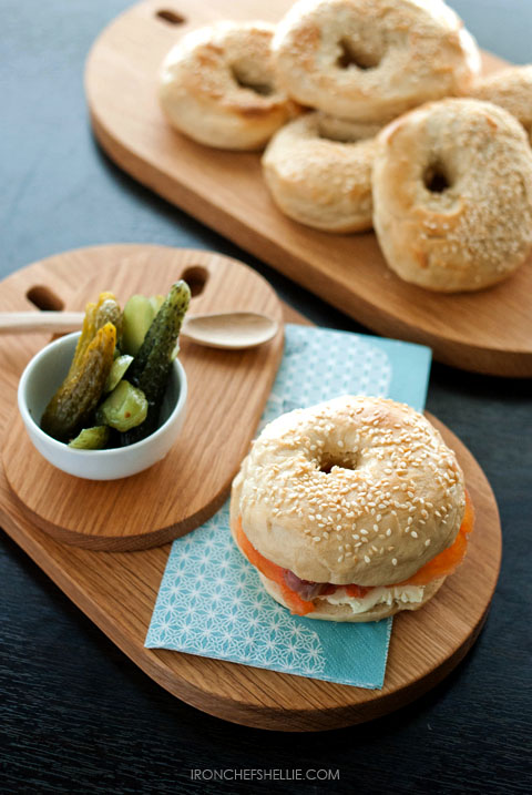 Bagels - Smoked Salmon and gerkins