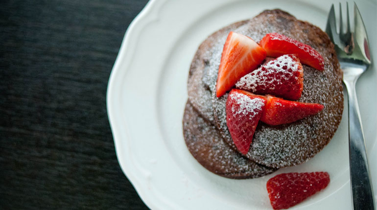Brownie Batter Pancakes - Feature Image
