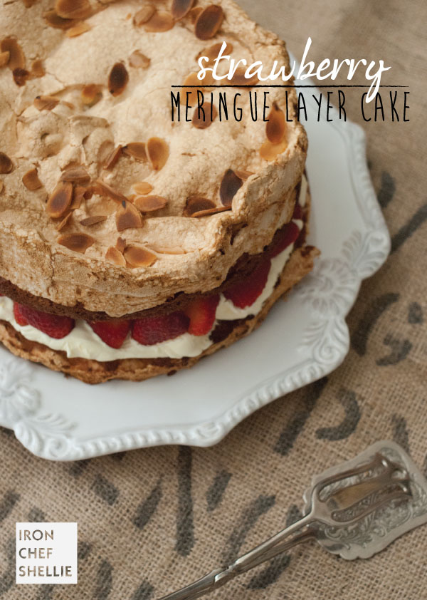 Strawberry-Mergine-Layer-Cake