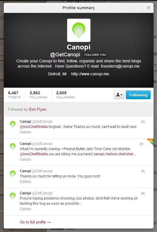 canopi tweet