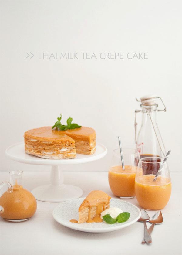 Thai Milk Tea Crepe Cake_Title Image