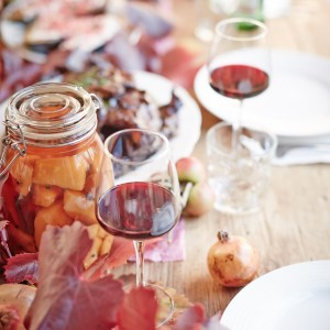 Gorgeous table spreads with gorgeous wines