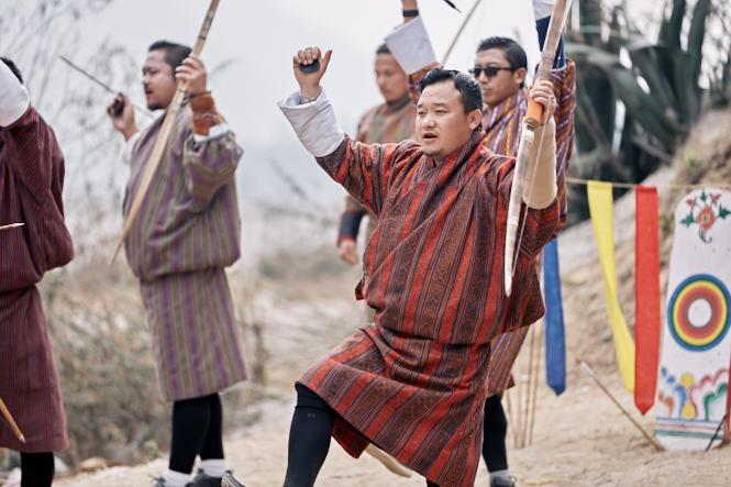 Bhutan - Punakha - Archery _BB73246