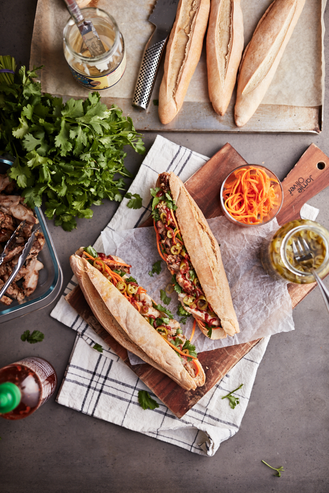 Lemongrass Chicken Banh Mi