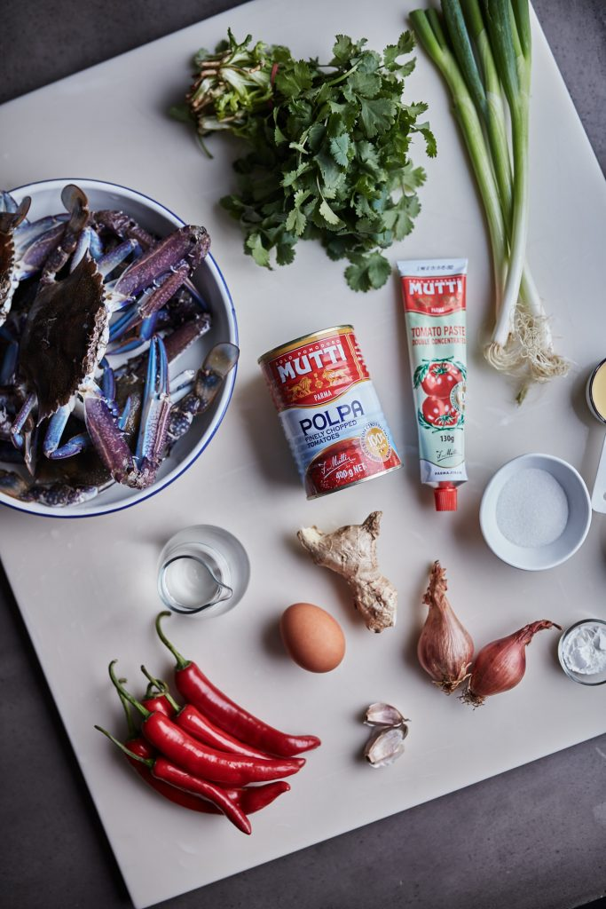 Ingredients for MUTTI Singapore Chilli Crab